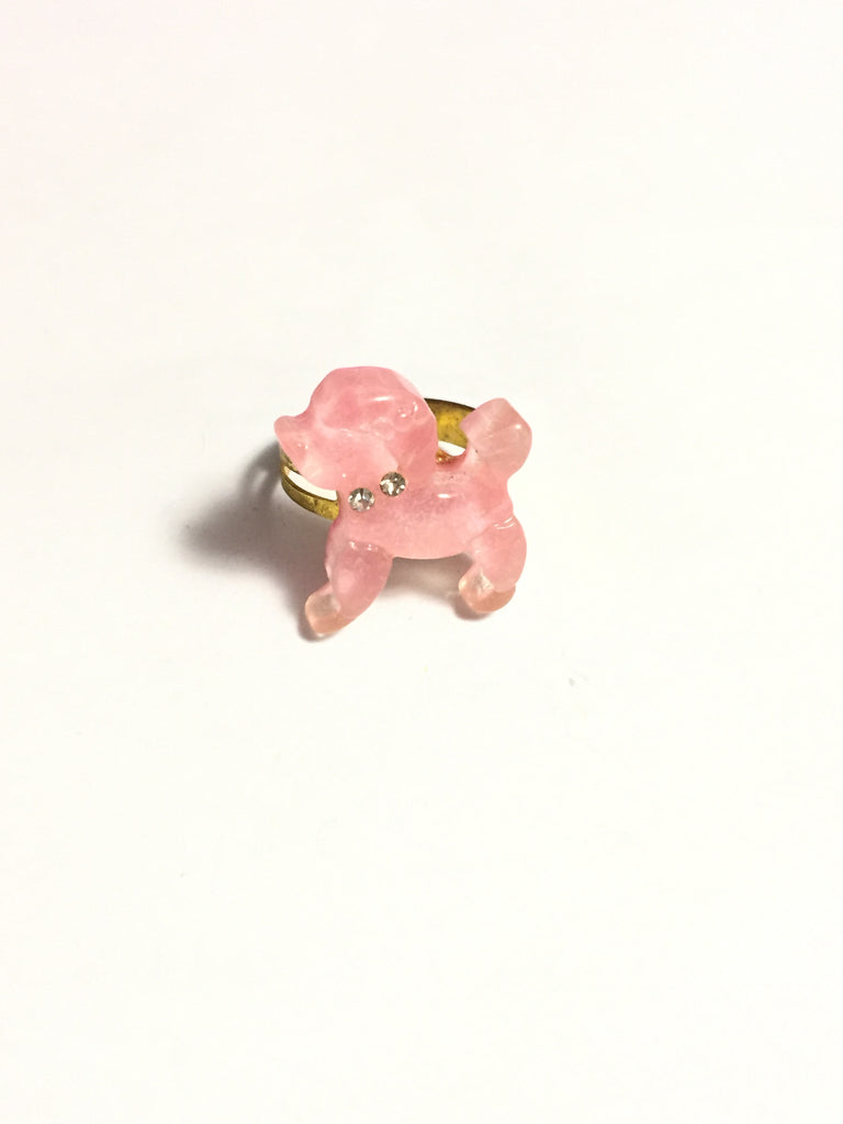 Light Pink Puppy Dog Poodle Ring