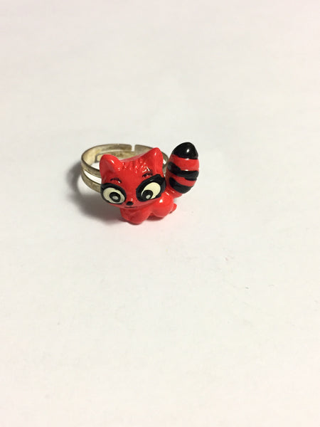 Red Raccoon Ring