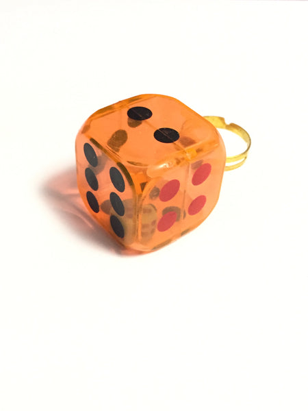 Orange Dice Ring