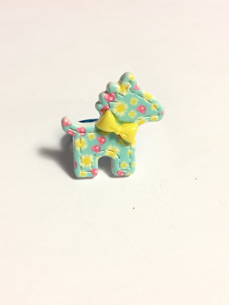 Blue Pony Horse Ring