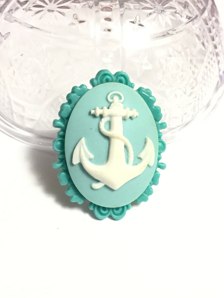 Anchor Cameo Ring