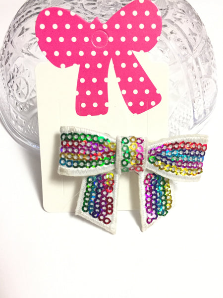 Rainbow Sequins Hair Barrette
