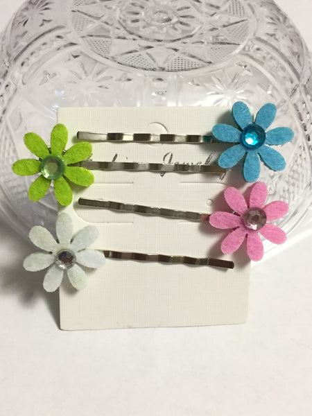 Spring Flowers Hair Clips