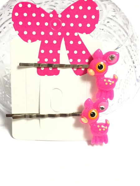 Baby Deer Hair Pins Set