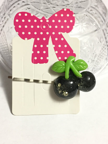 Black Cherries Hair Clip