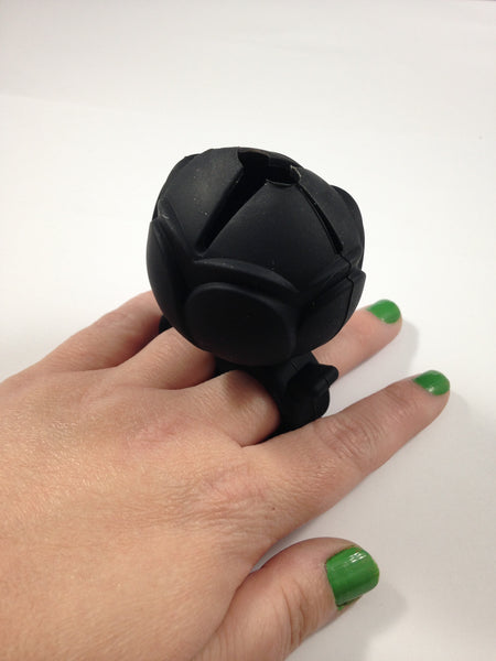 Black Nail Polish Holder Ring