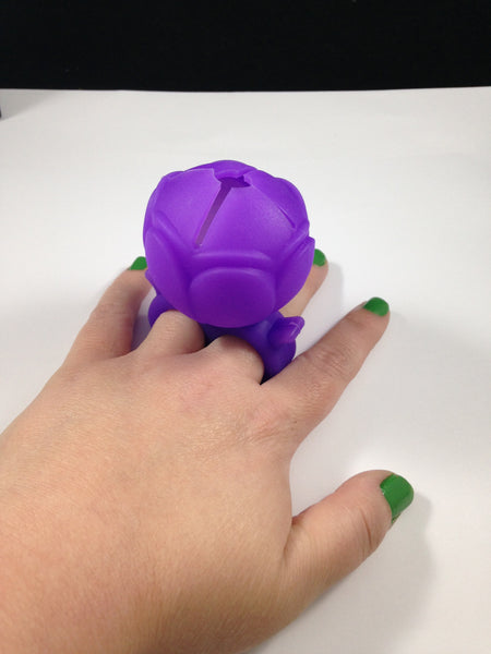 Purple Rose Nail Polish Holder Ring