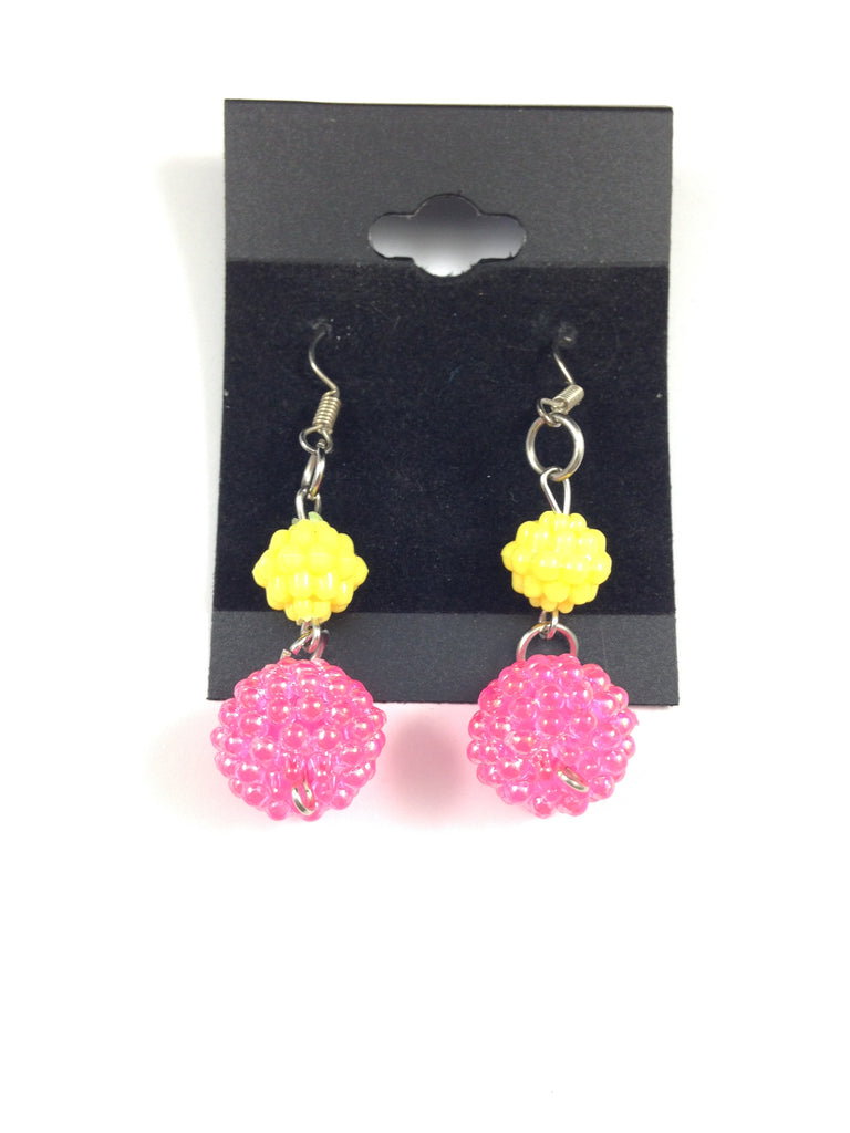Pink Lemonade Beaded Earrings