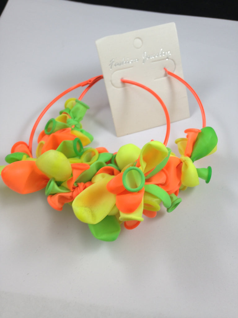 Balloon Hoop Earrings