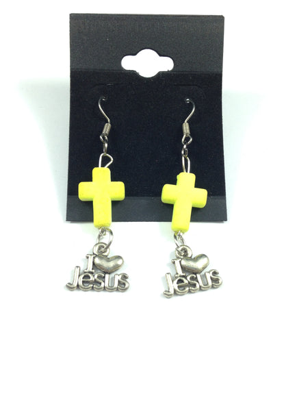 Natural Stone Cross Charm