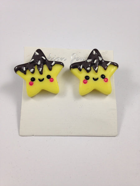 Cute Yellow Star Earrings