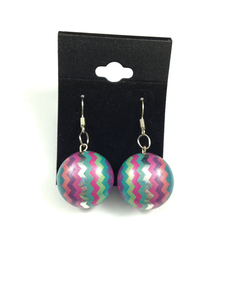 Zig Zag Design Beaded Earrings