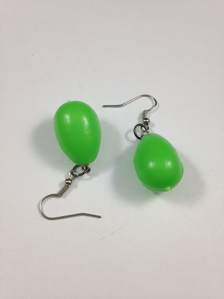 Green Egg Earrings