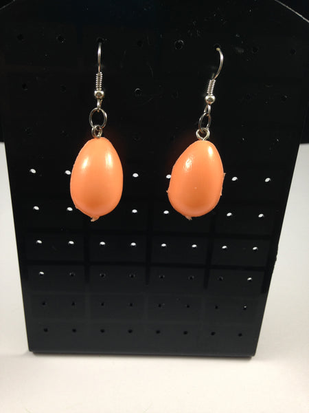 Orange Egg Earrings