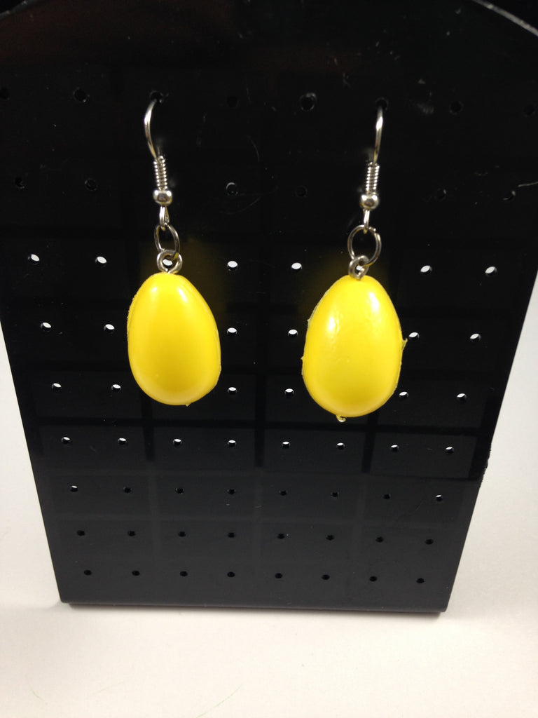 Yellow Egg Earrings