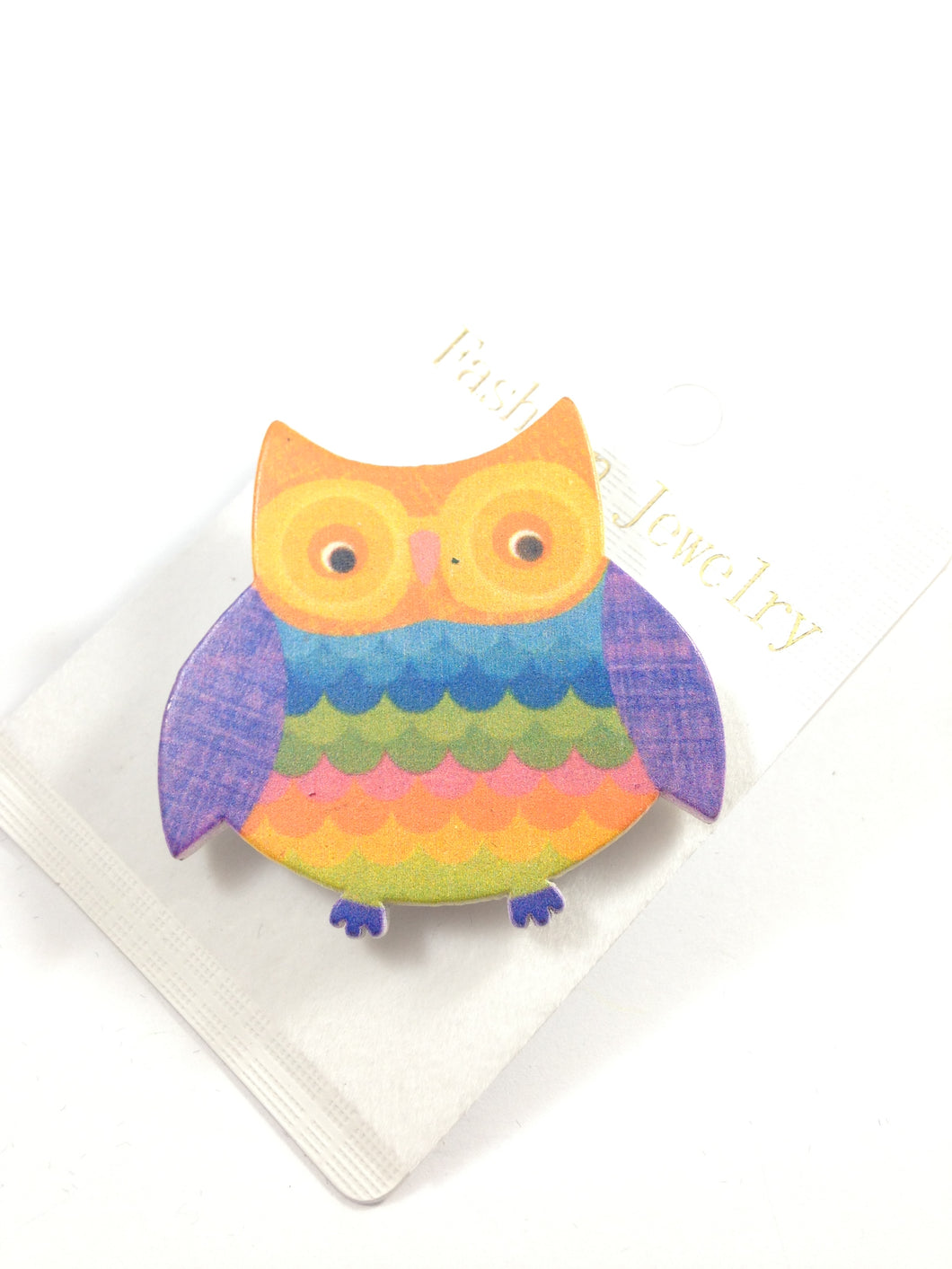 Colorful Owl Adjustable Ring