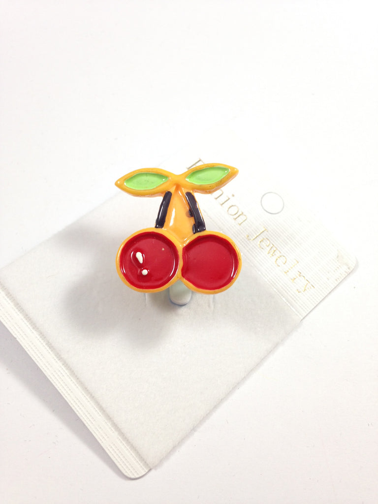 Red Cherries Adjustable Ring