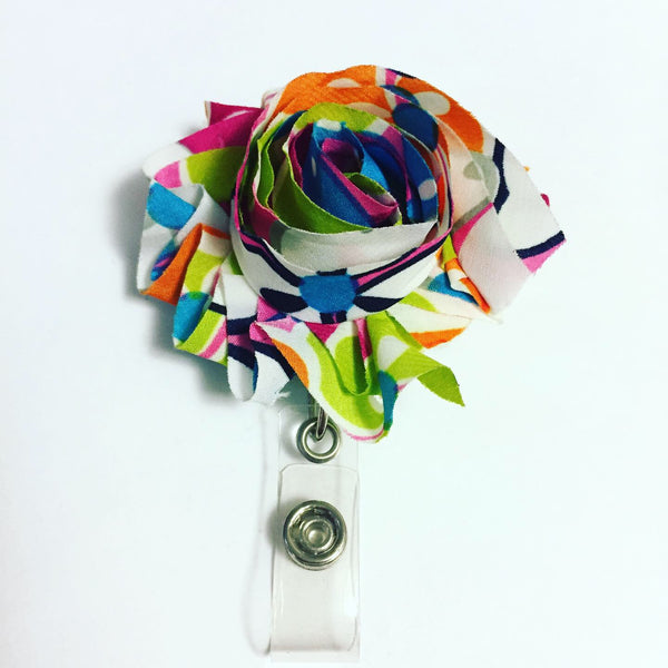 Flower Name Badge Reel