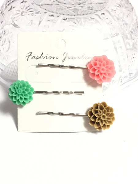 Chrysanthemum Flower Hair Pins