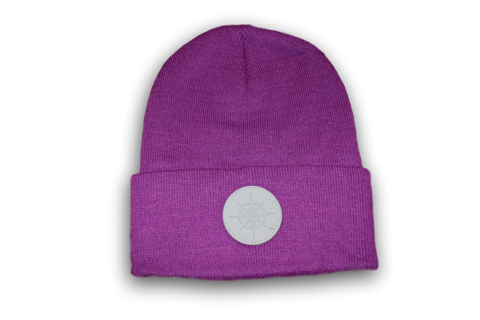 BCG Beanie Purple and Grey
