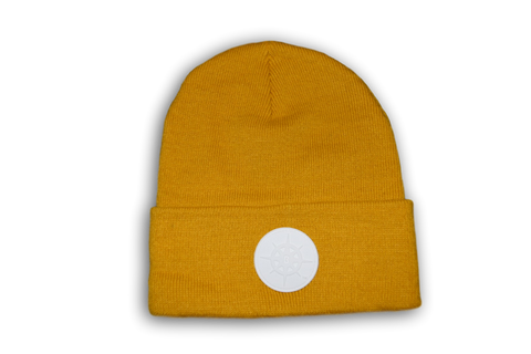 BCG Beanie Spicy Mustard and White