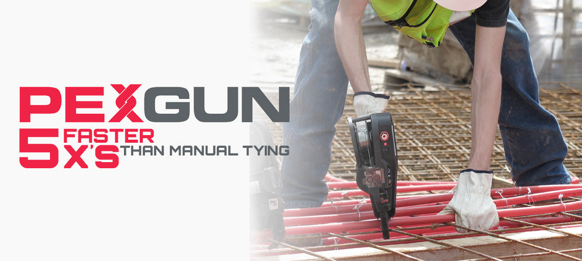 PEXGUN is 5x faster than manual tying