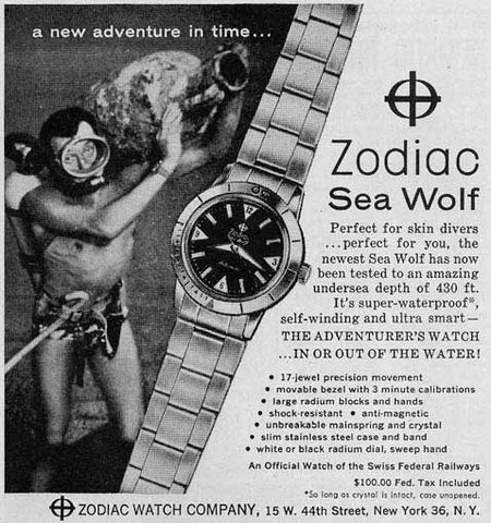 1960s Zodiac Sea Wolf (Ref. 722-916) W/ Box & Military Provenance