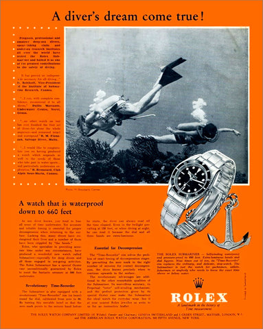 Rolex 5508 Submariner Ad