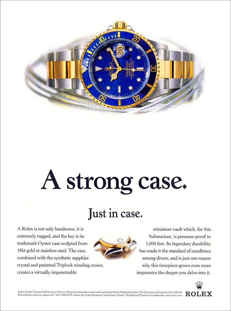 Two Tone Submariner Advertisement