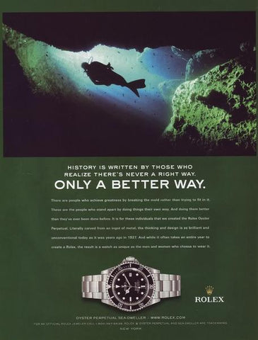 Rolex Sea Dweller Ref. 16660 advertisement