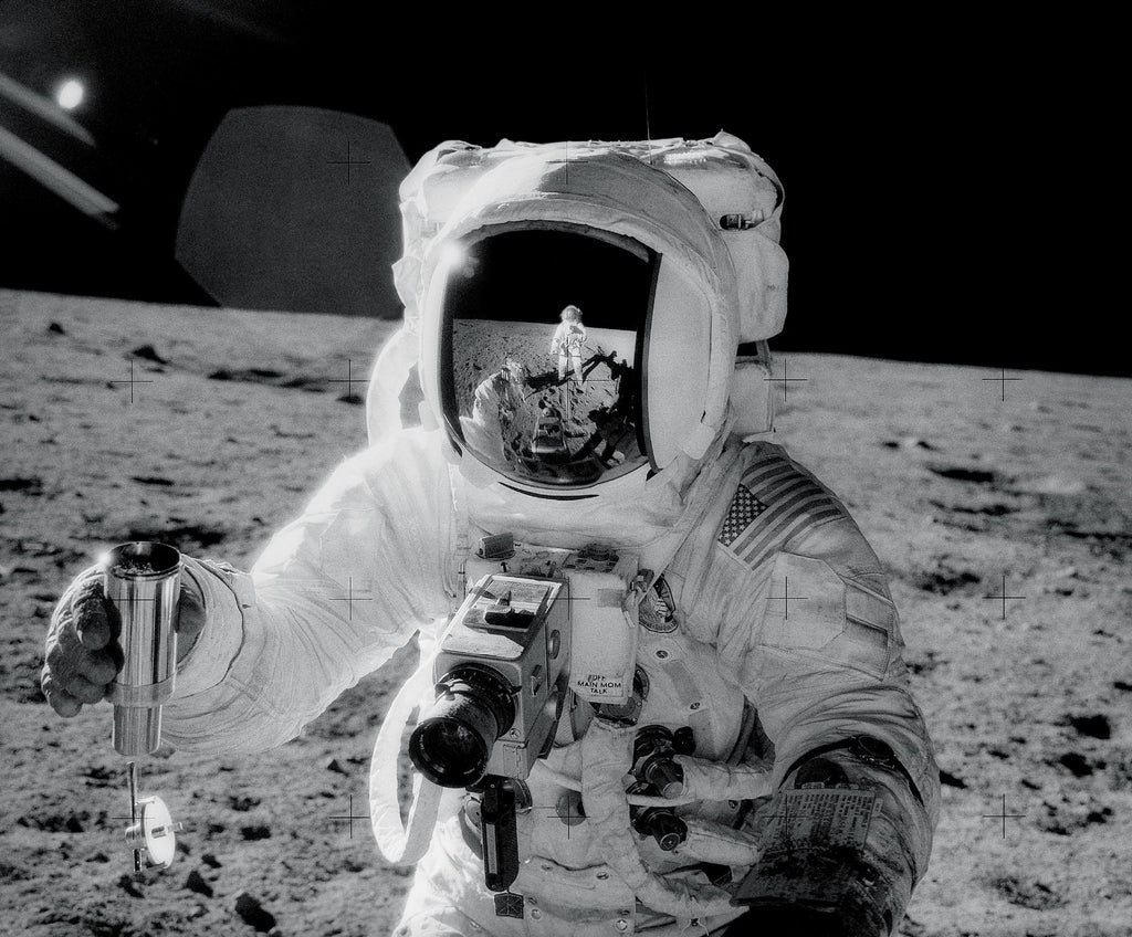 Alan Bean With An Omega Speedmaster Professional On Lunar Surface Of The Moon