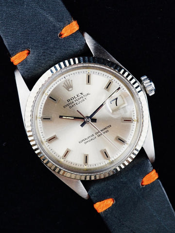 1968 Rolex Datejust (Ref. 1601) Silver Block Dial