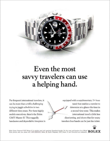 Rolex Fat Lady GMT Advertisement