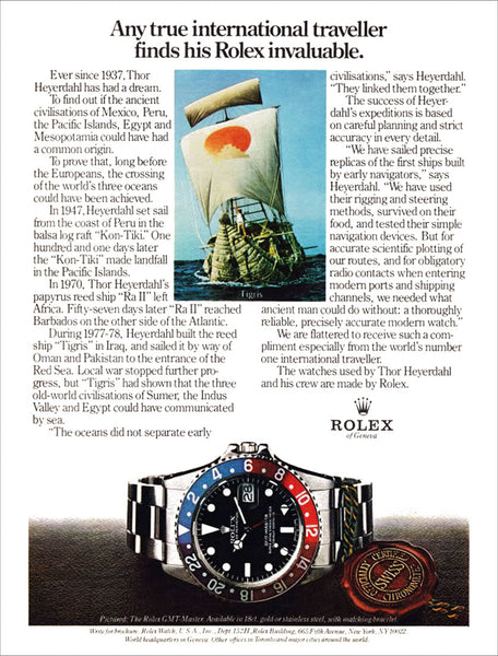 Rolex 1675 GMT advertisement