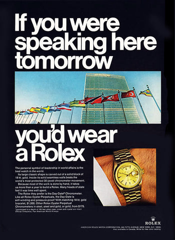 Rolex Day-Date President History - United Nations 1967
