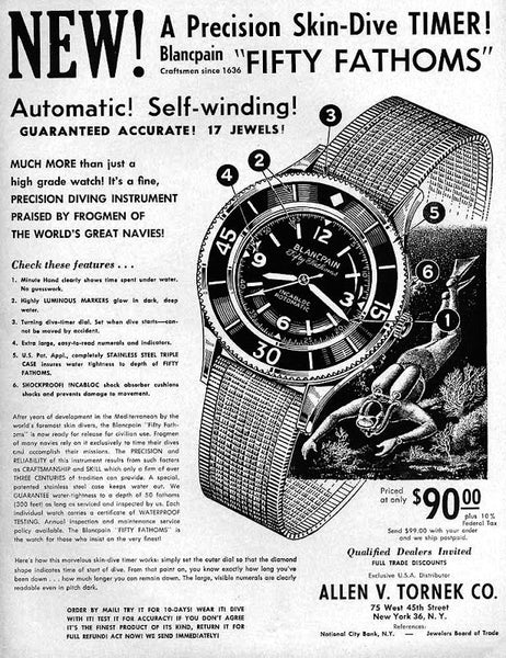 Vintage Blancpain Fifty Fathoms Ad