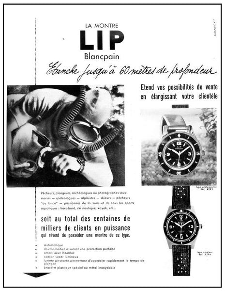 A Brief History of the Blancpain Fifty Fathoms - LIP