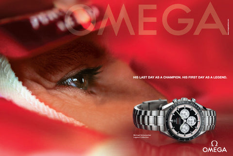 "*Unpolished* 2006 Limited Edition Omega Speedmaster Automatic (Ref. 3559.3200) ""Michael Schumacher Legend"" Complete Set"