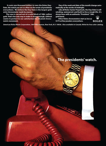 Rolex Day-Date President History - The Presidents Watch 1966