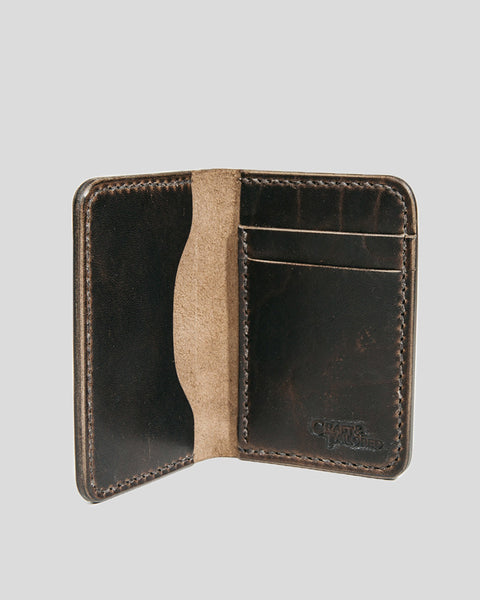 Horween Horsehide Leather Slim Wallet (Chocolate Brown)
