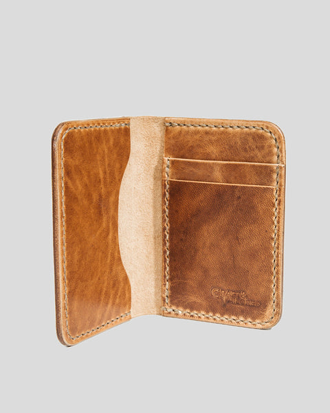 Horween Horsehide Leather Slim Wallet (Honey Blonde)