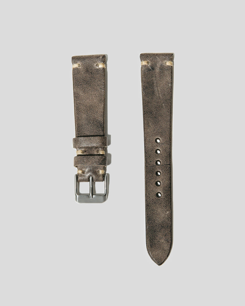 Horween Horsehide Leather Watch Strap 20mm (Lunar Grey)