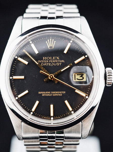 1974 Rolex Datejust (ref.1601) Black/Gold Dial