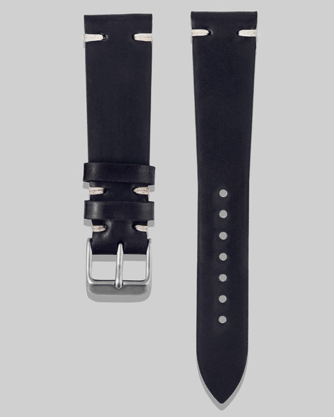 Horween Shell Cordovan Watch Strap (Black)