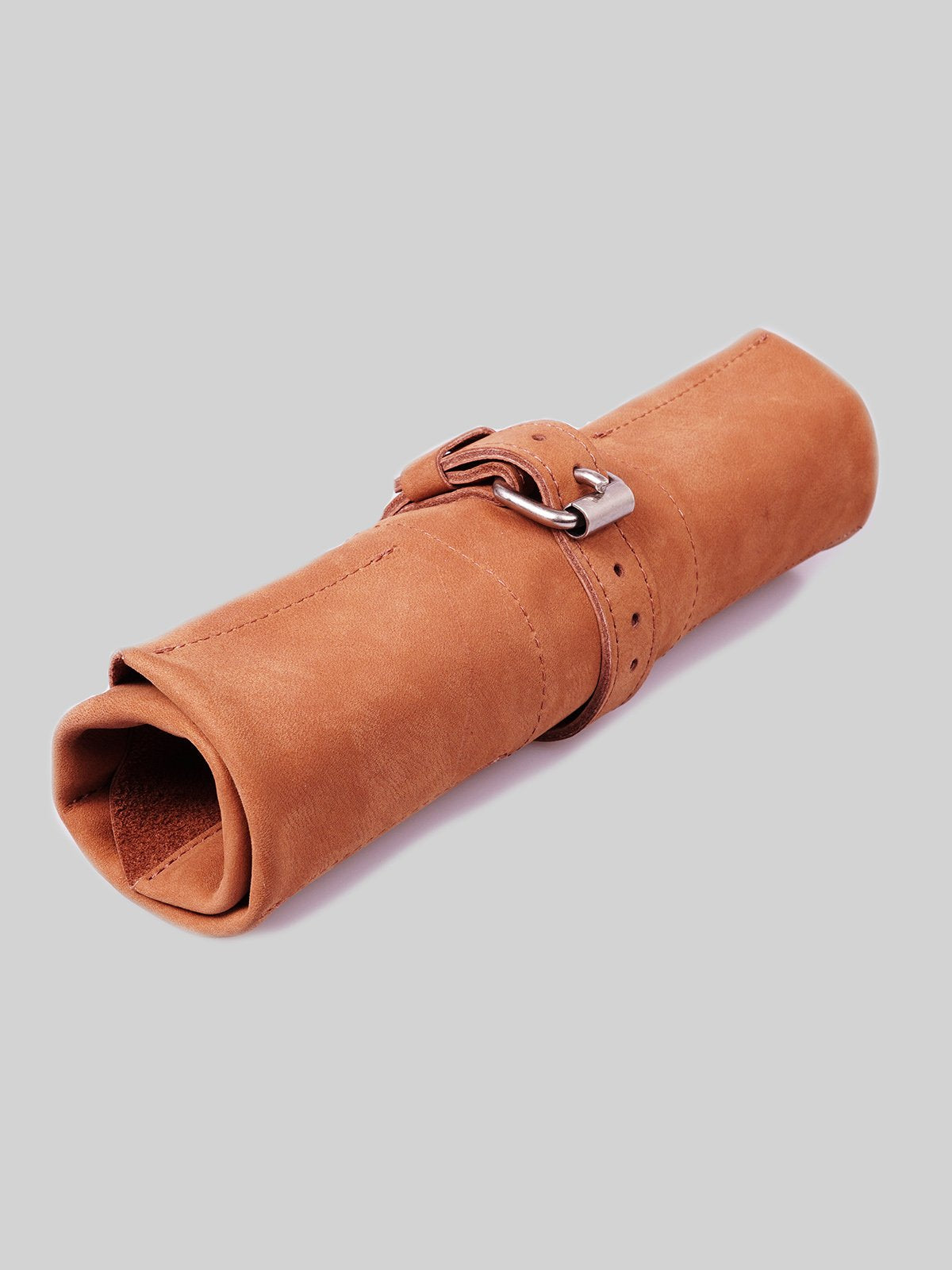 Leather Watch Roll - Cognac