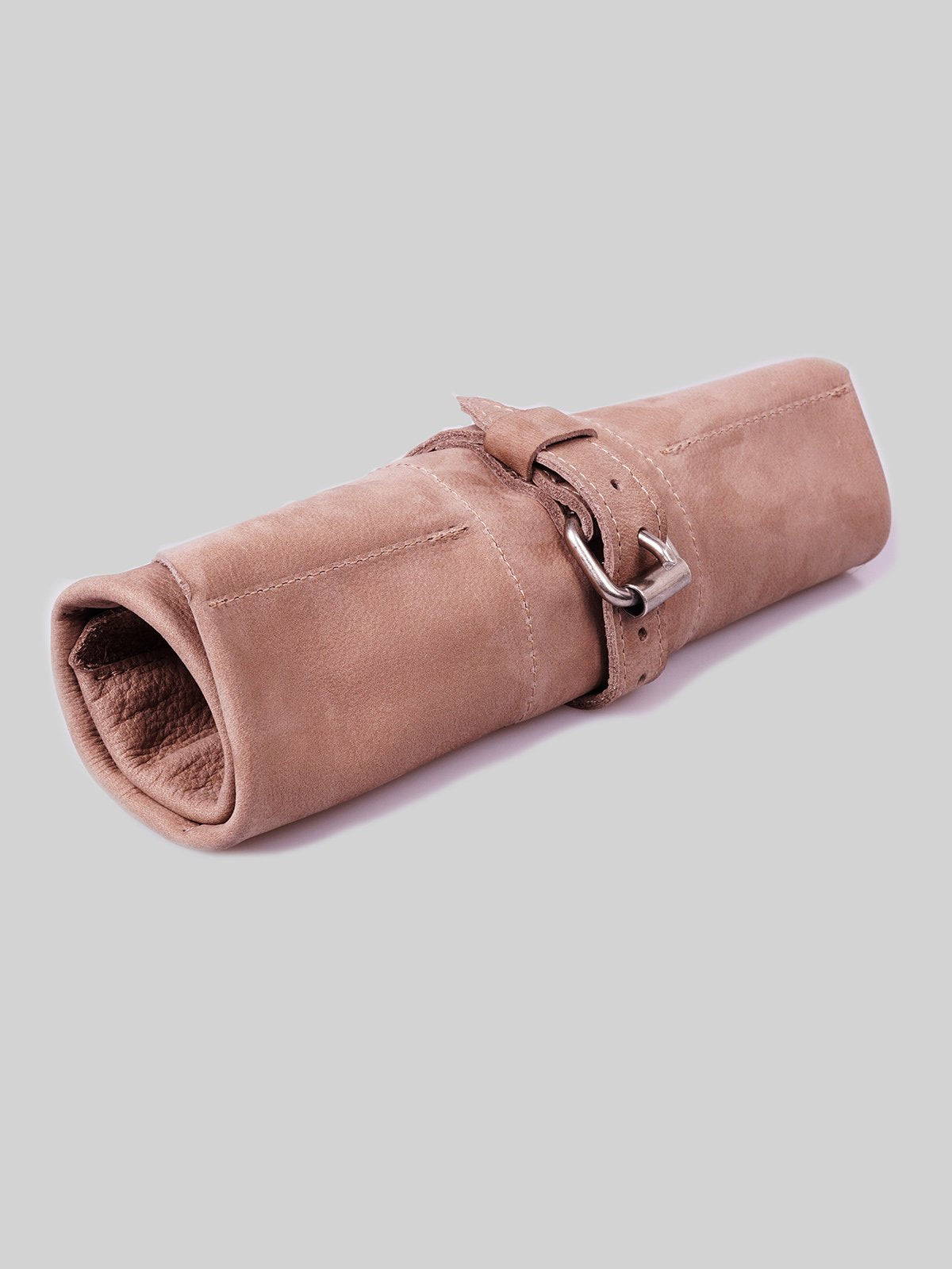 Leather Watch Roll - Taupe