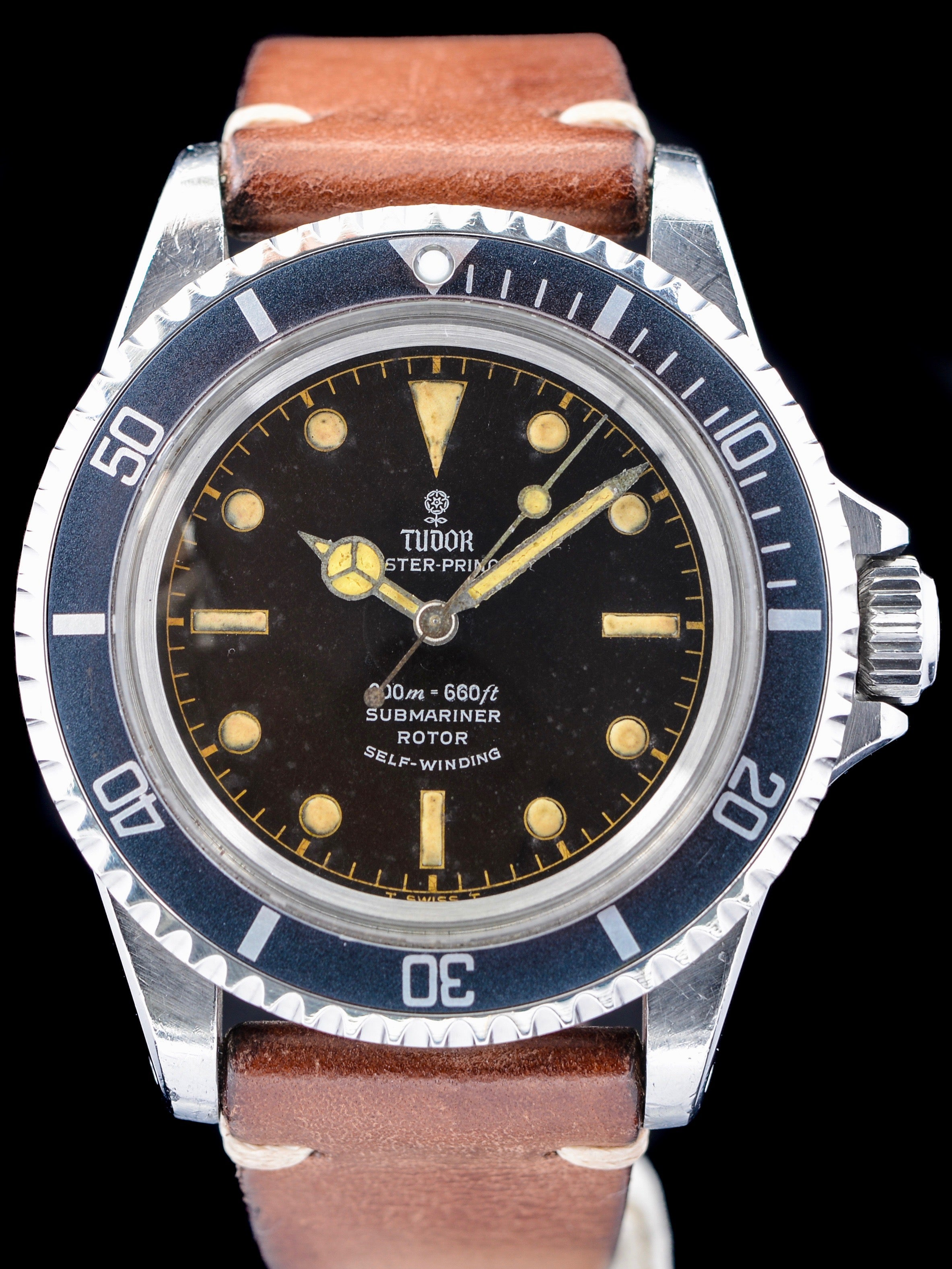"1965 Tudor Submariner (Ref. 7928) ""Tropical Chapter Ring Dial"""