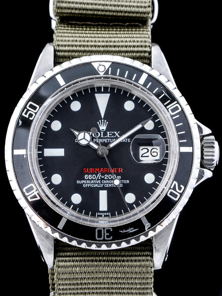 "1969 Rolex Red Submariner (Ref. 1680) ""Luminova Service Dial"""
