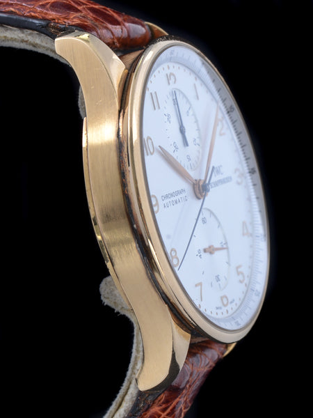 2011 IWC 18k YG Portugieser Chronograph Ref. 3714 W/ Box & Papers