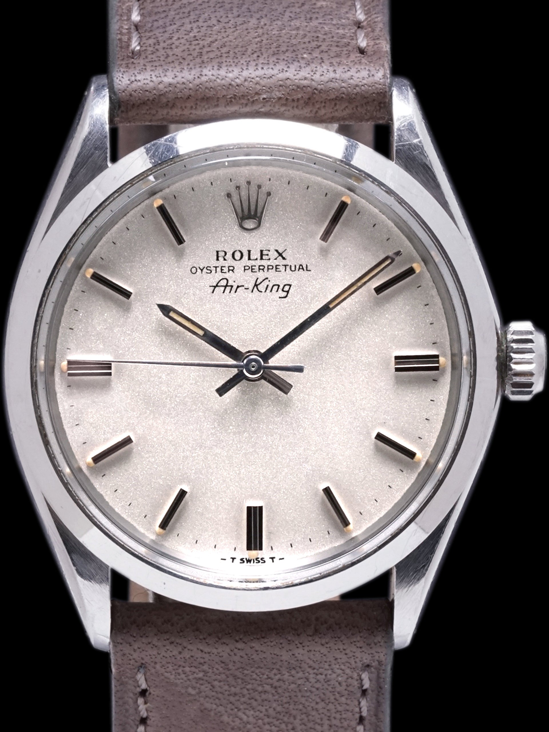 "1969 Rolex Air-King (Ref. 5500) ""Rare Metalic Silver Dial"""